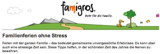 Familienferien ohne Stress