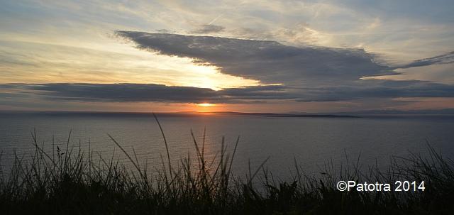 Sonnenuntergang an den Cliffs