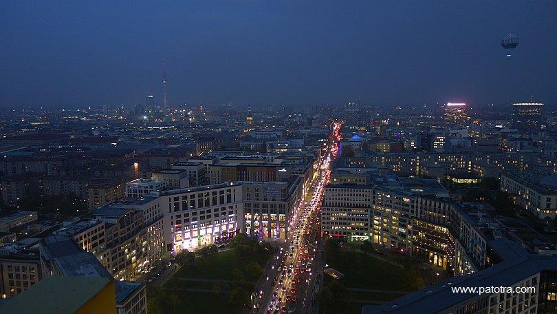 Panoramablick Berlin Nacht