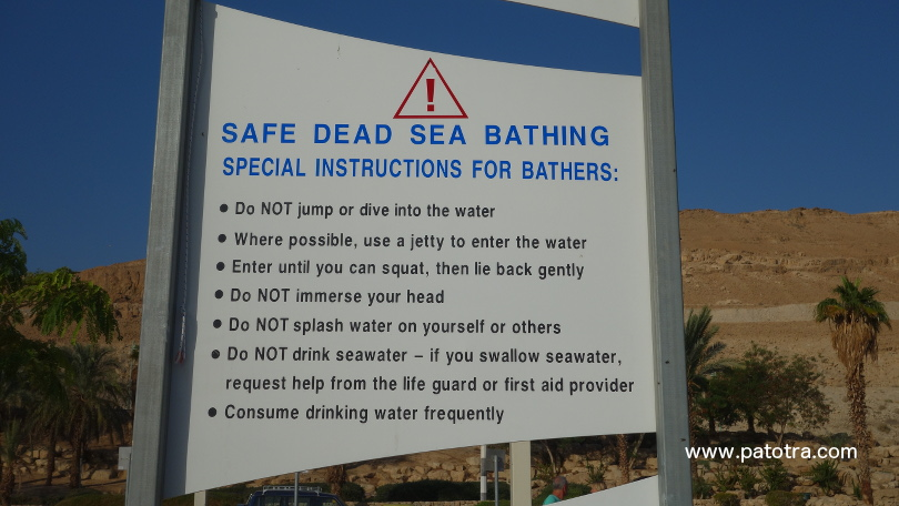 Baderegeln Totes Meer