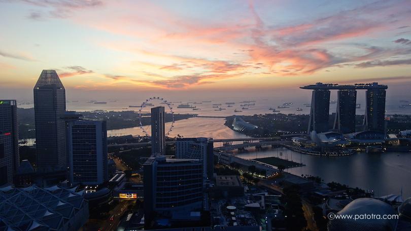 Sonnenaufgang Singapur