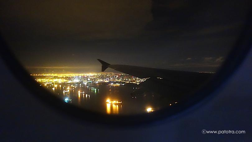 Anflug bei Nacht