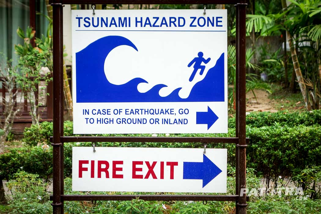 Tsunami Fluchtwege