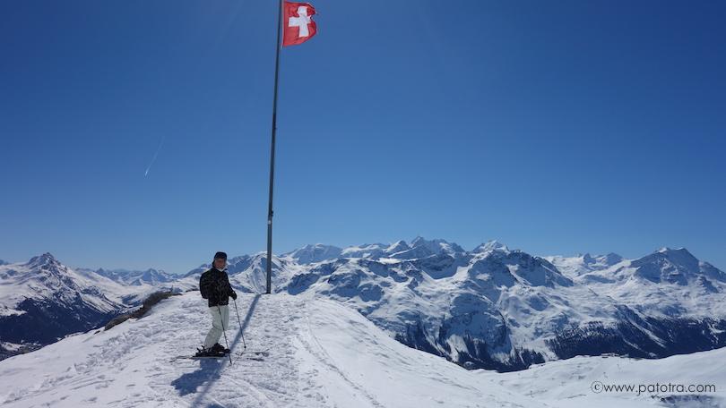 Skifahren Corviglia