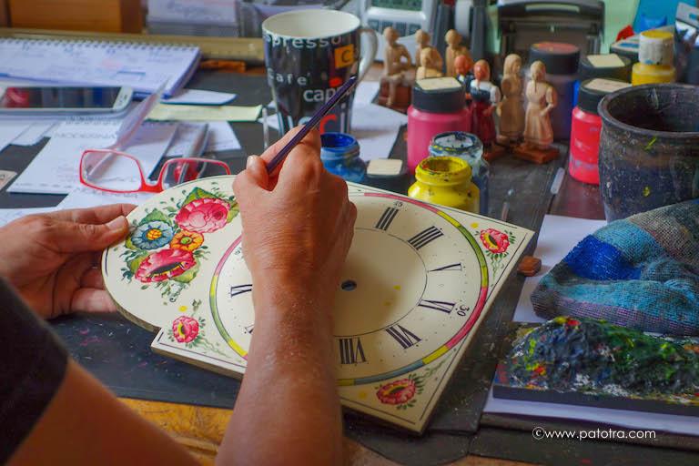 Uhrenschildmalerei Schwarzwald