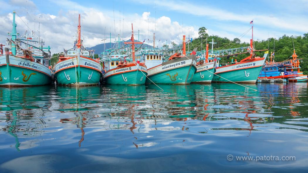 Fischerboote Kuraburi