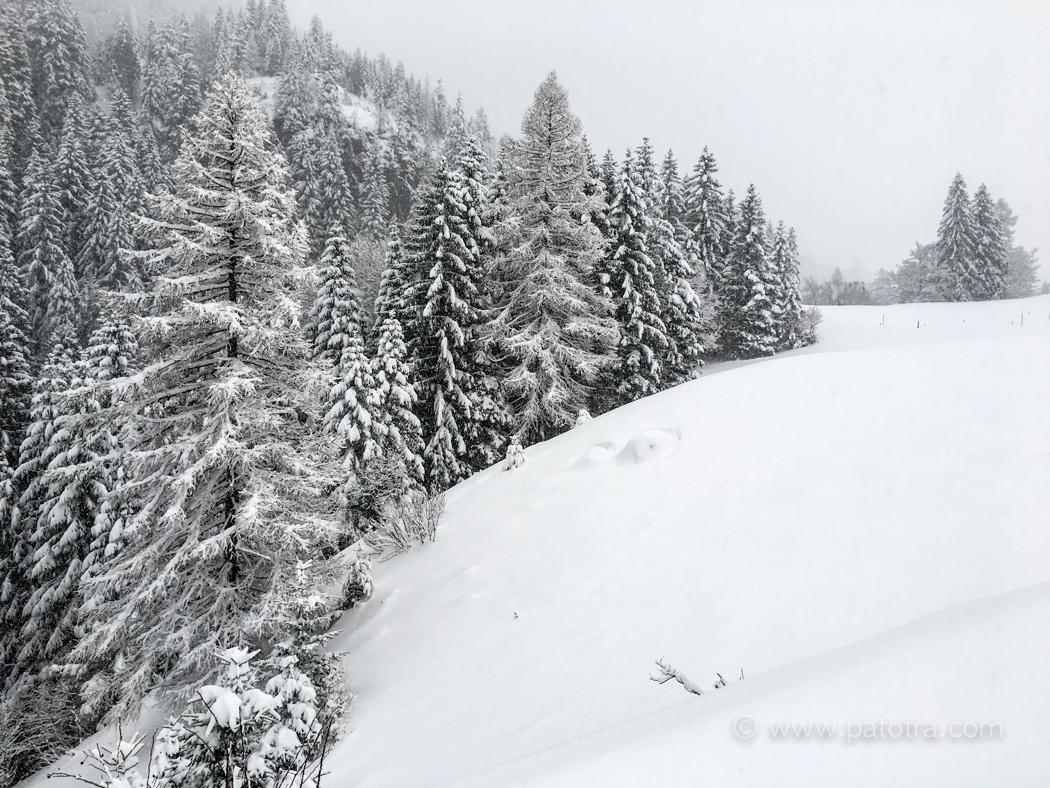 Brand im Schnee