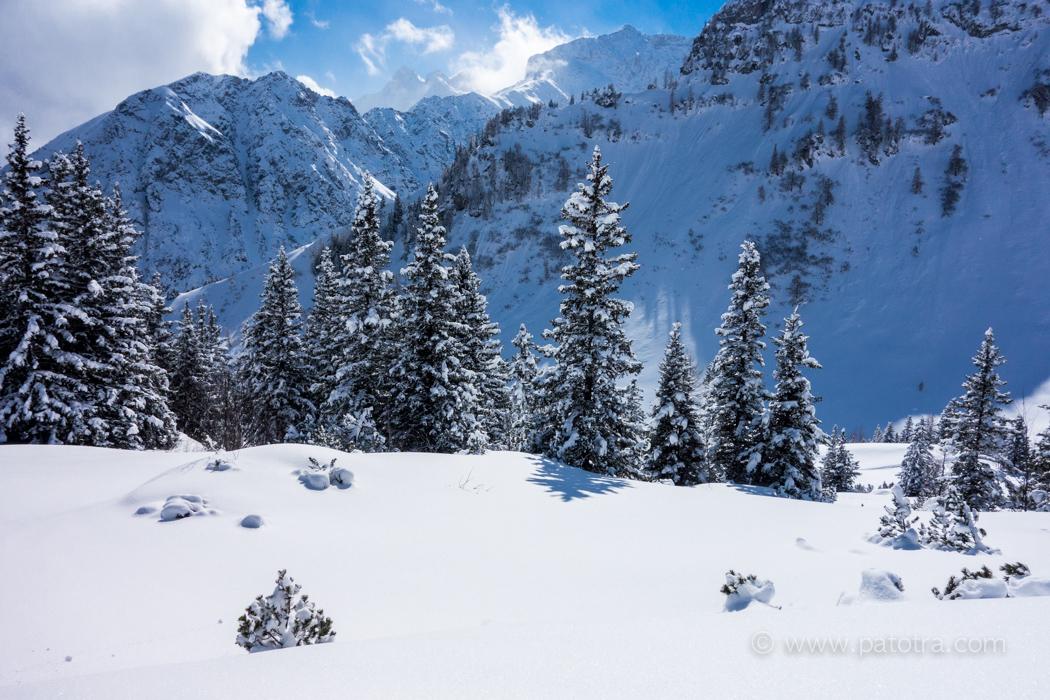 Schnee Brand Skigebiet