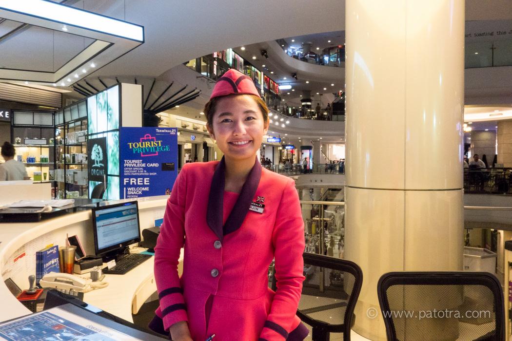 Stewardess Terminal 21 Bangkok