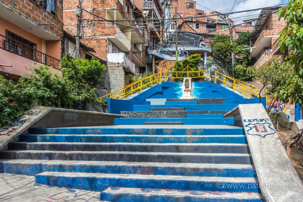 Aufgang Comuna Medellin