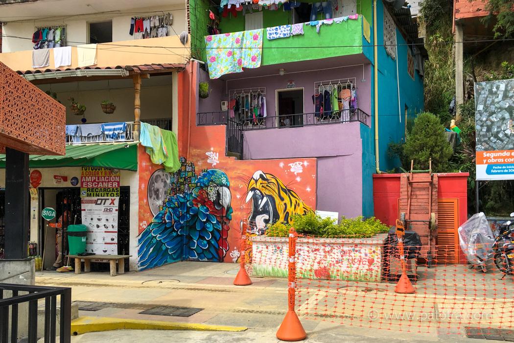 Comuna Medellin Kolumbien