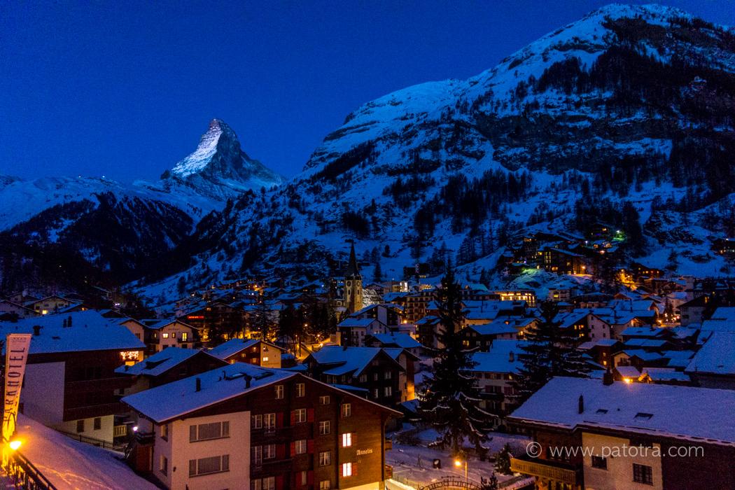 Zermatt Matterhorn am Abend