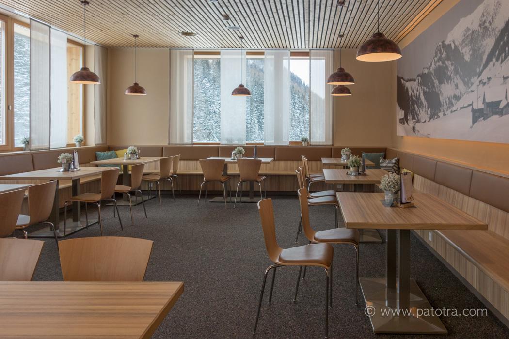 Essbereich Restaurant JUFA Malbun