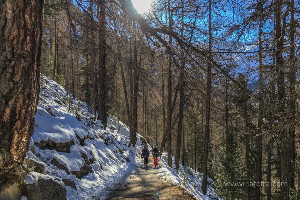 Winterwanderweg Wallis