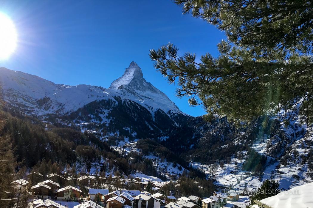 Zermatt Blick auf Matterhorn