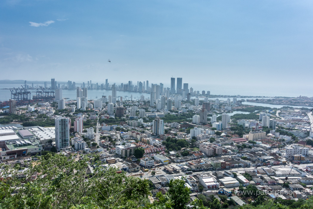 Skyline von Cartagena Kolumbien