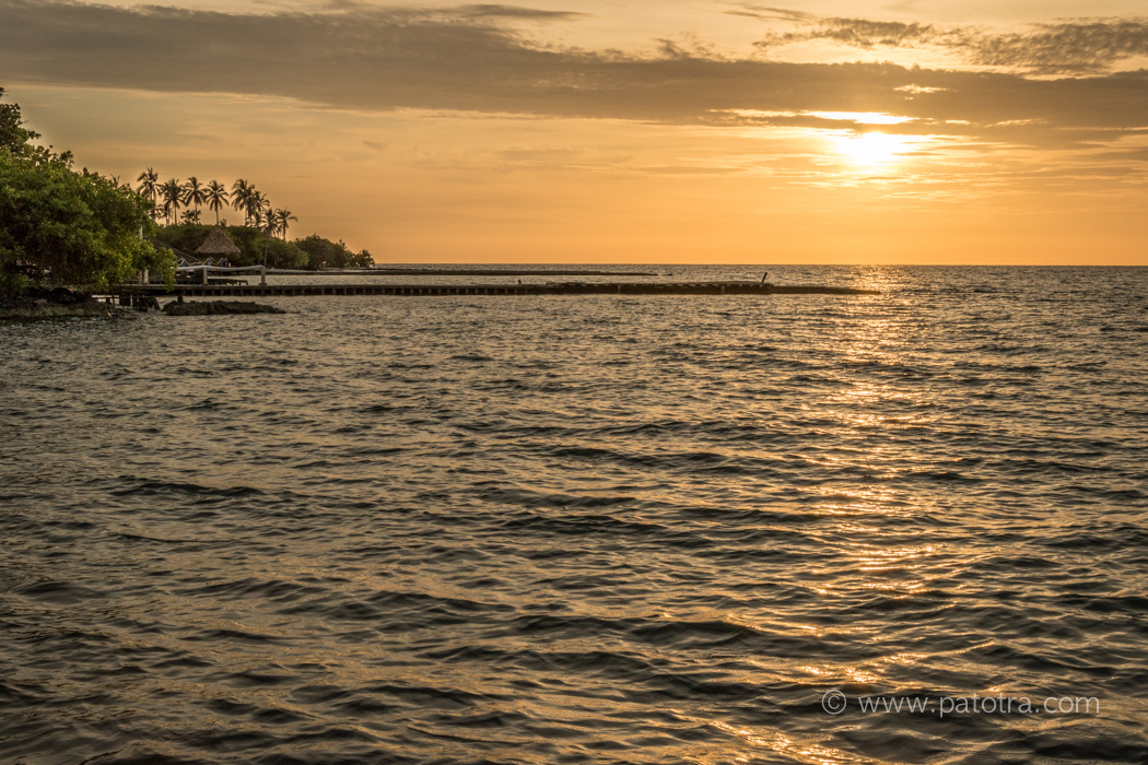 Sonnenuntergang Karibik Kolumbien