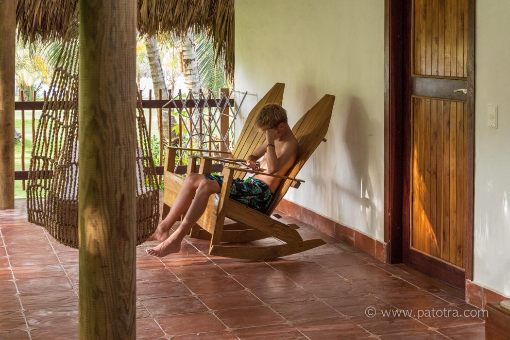 Terrasse Zimmer Hotel Punta Faro Kolumbien