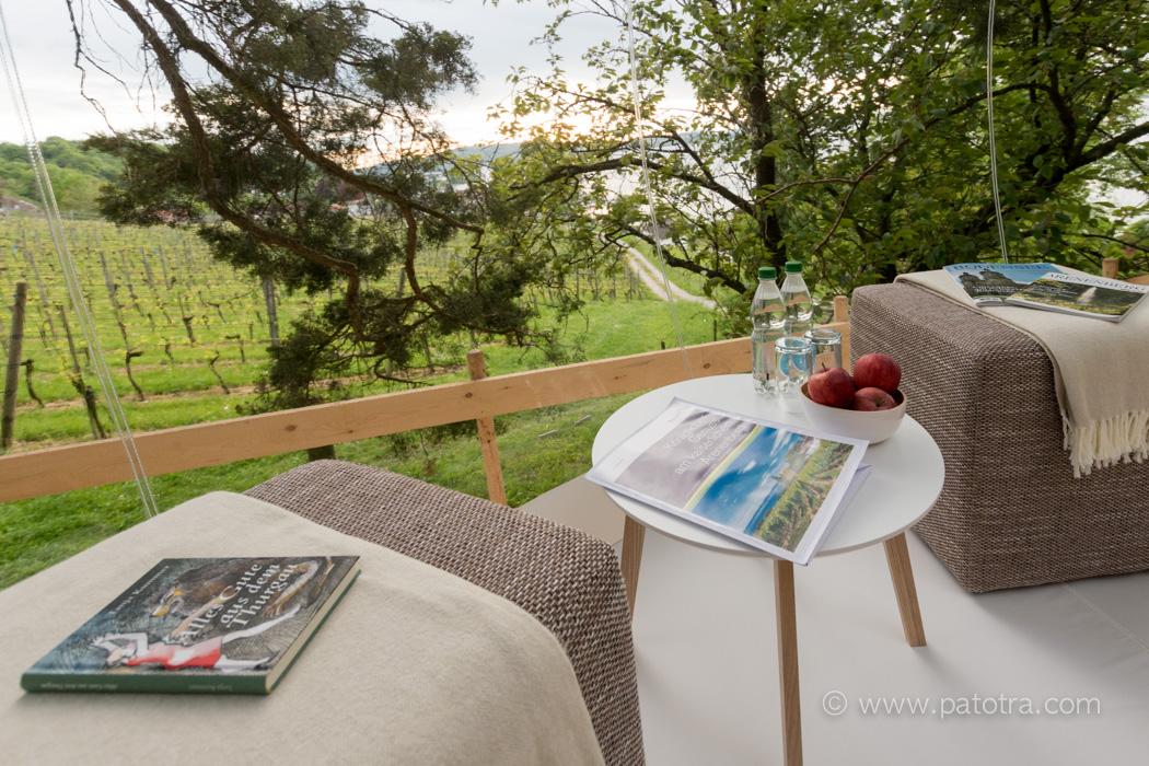 Ausblick Bubblehotel Arenenberg Bodensee