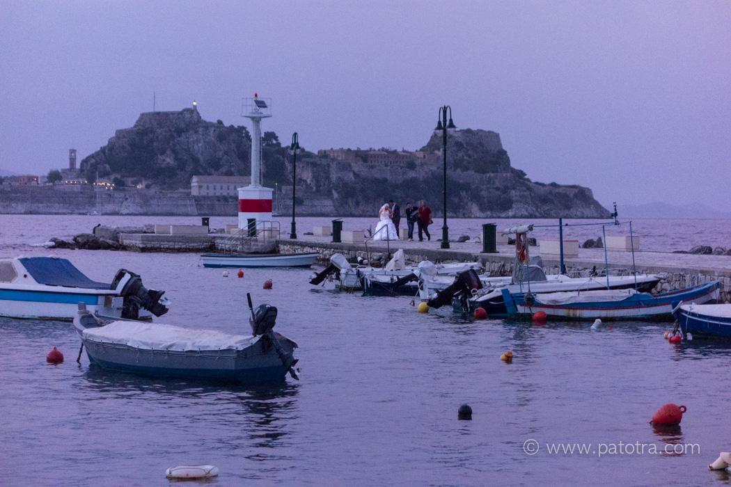 Hochzeit im Hafen von Korfu
