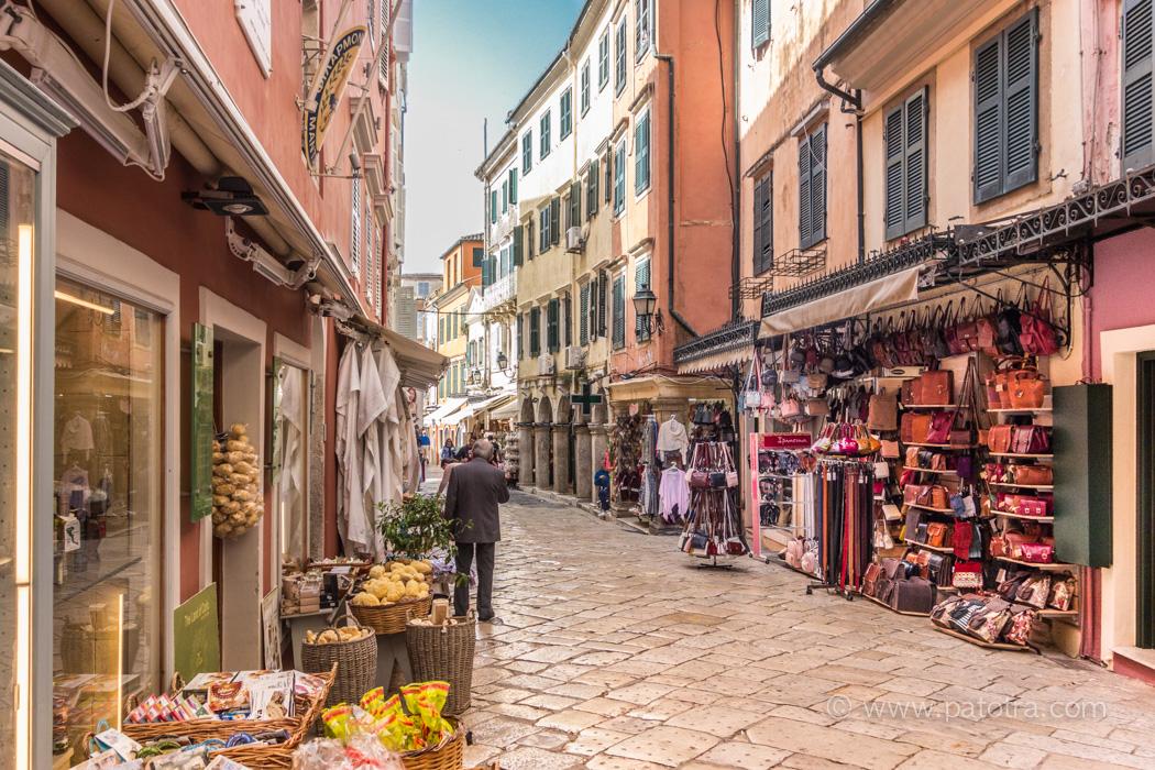 Gassen Korfu Stadt