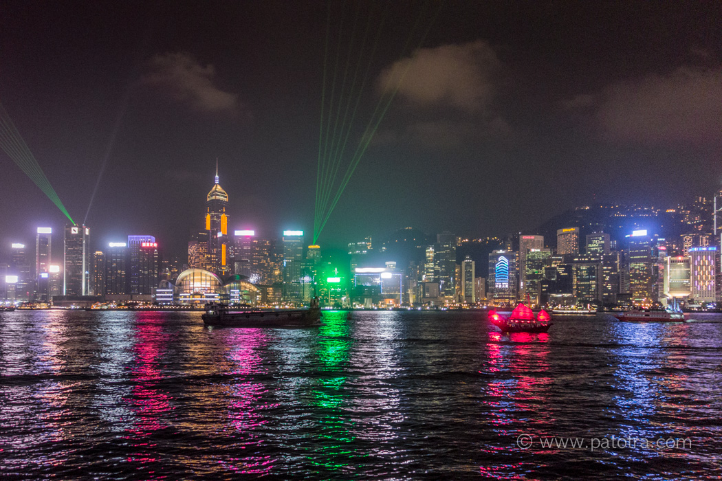 Hongkong Symphony of Lights Skyline