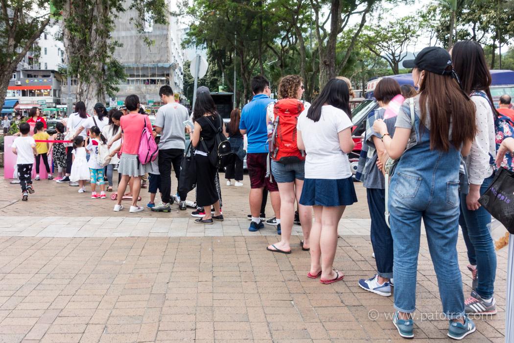 Schlangestehen Hongkong