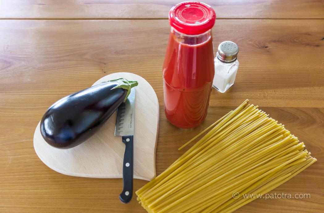 Rezept Pasta mit Auberginen