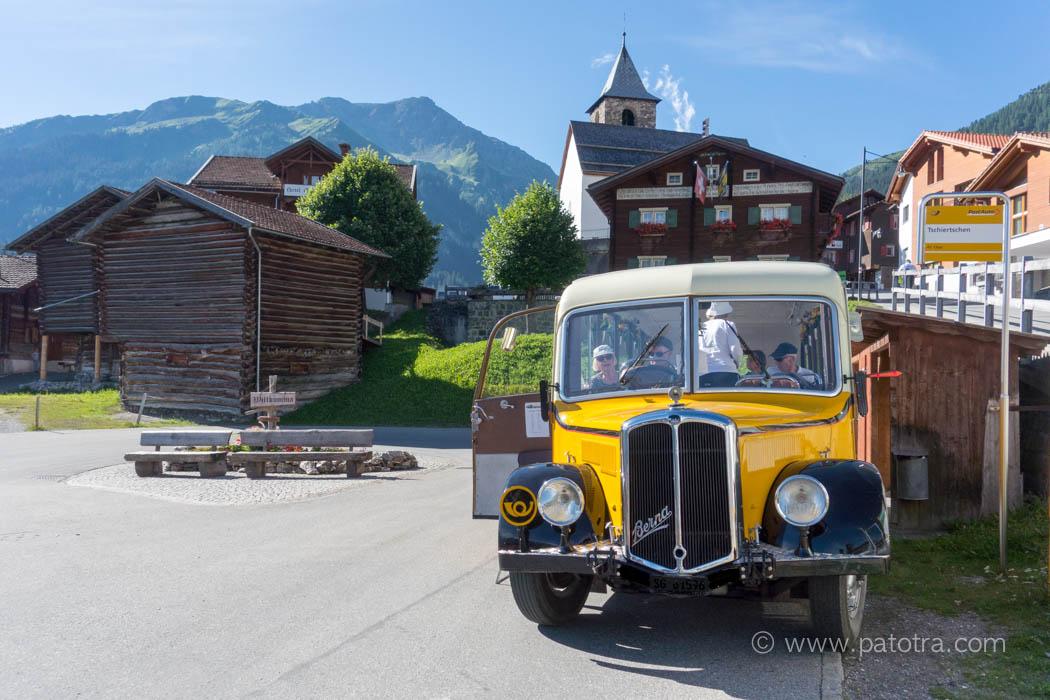 Nostalgie Postauto Tschiertschen