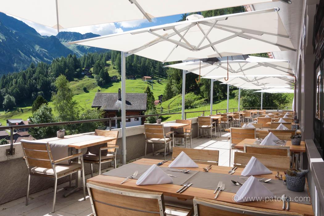 Terrasse The Alpina Tschiertschen