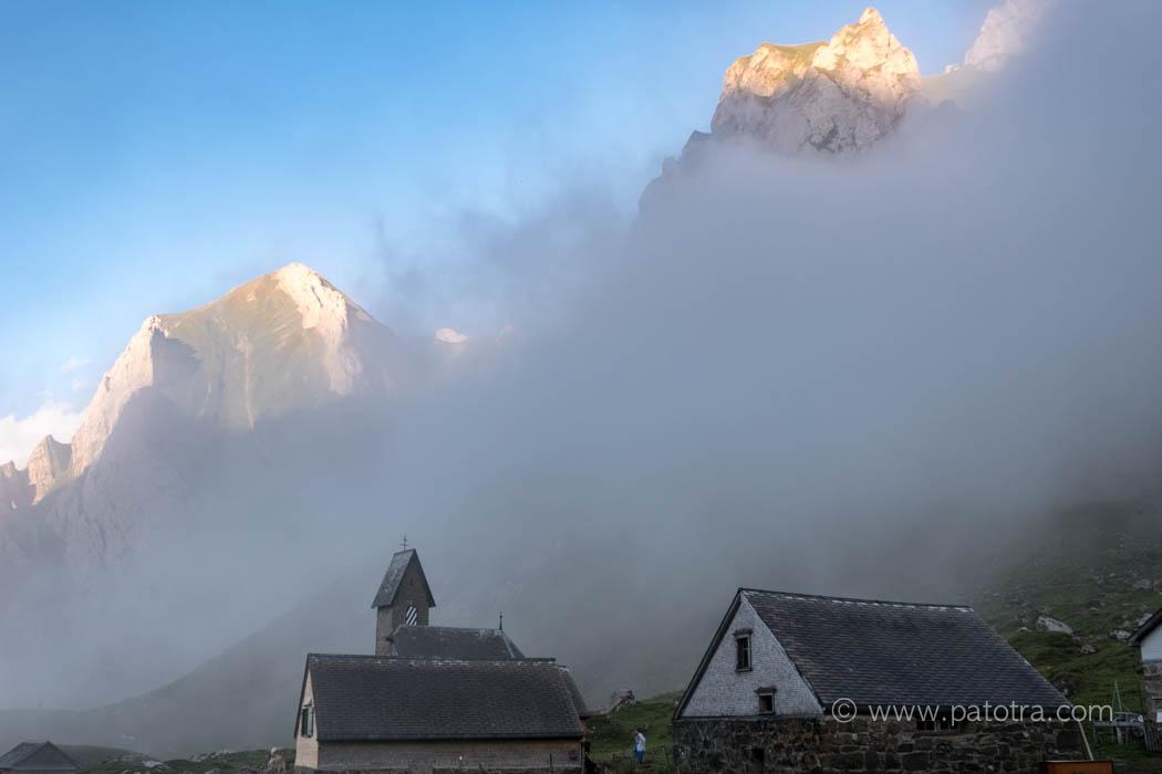 Nebelschwaden über der Meglisalp