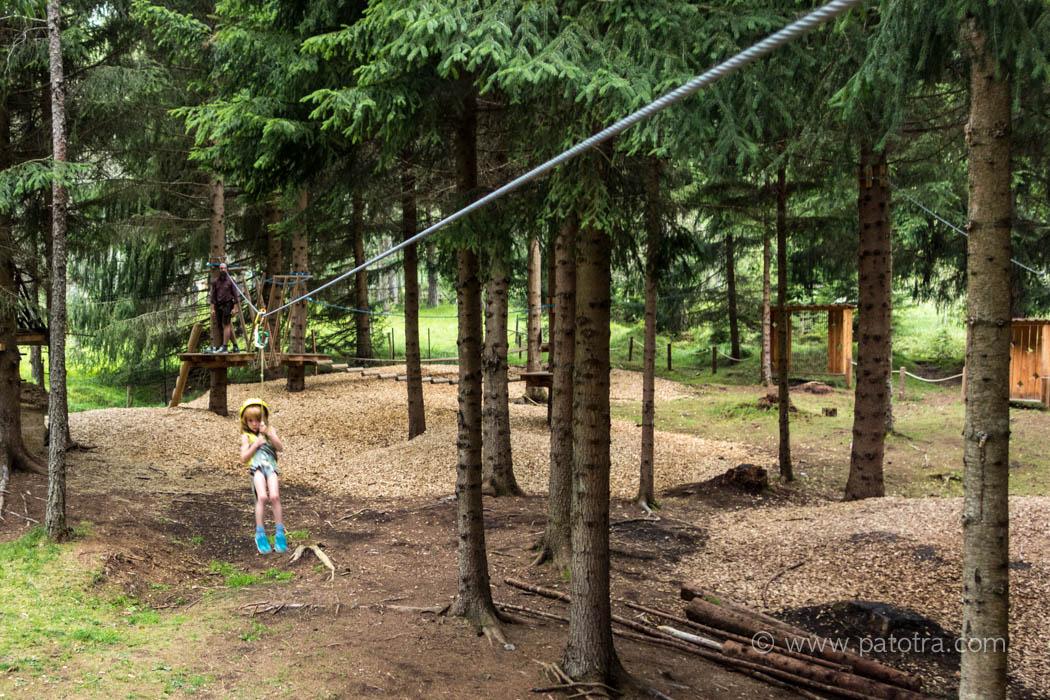 Waldspielplatz Flying Fox Obsteig