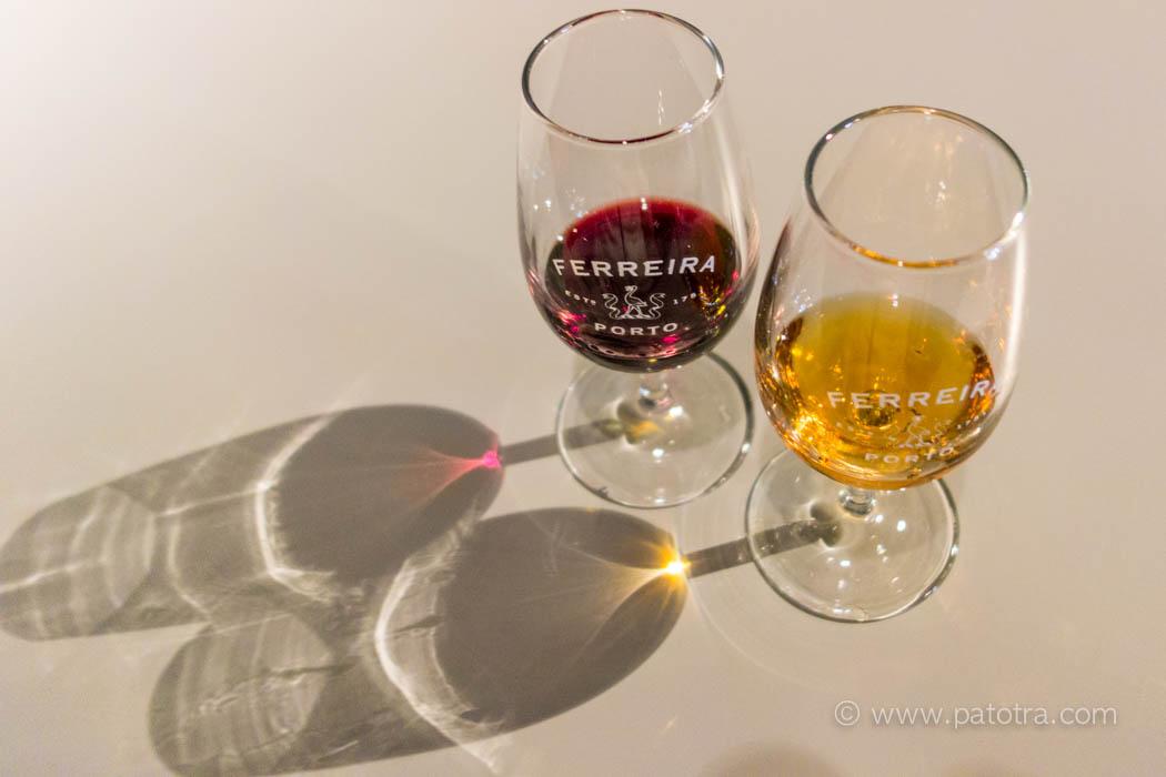 Portwein rot und weiss