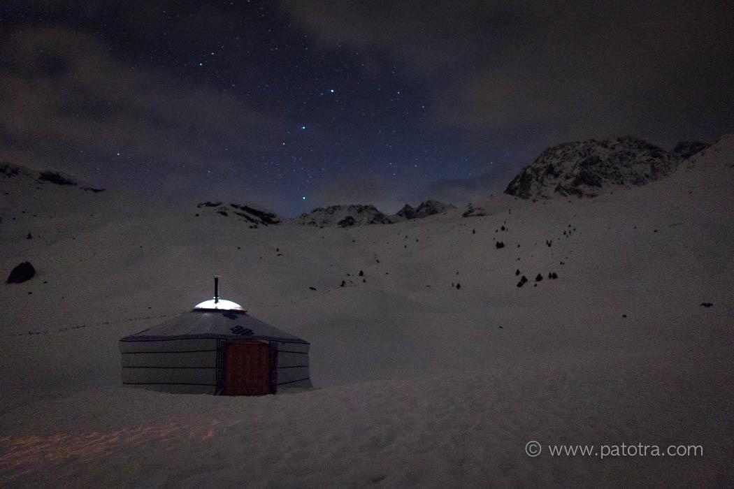Sternehimmel Alp Flix Jurte