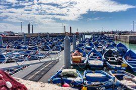 Boote im Hafen von Essaouria