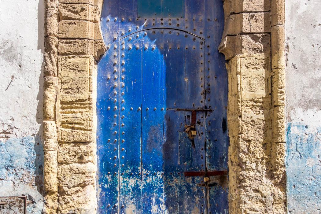 Essaouria Tuere blau