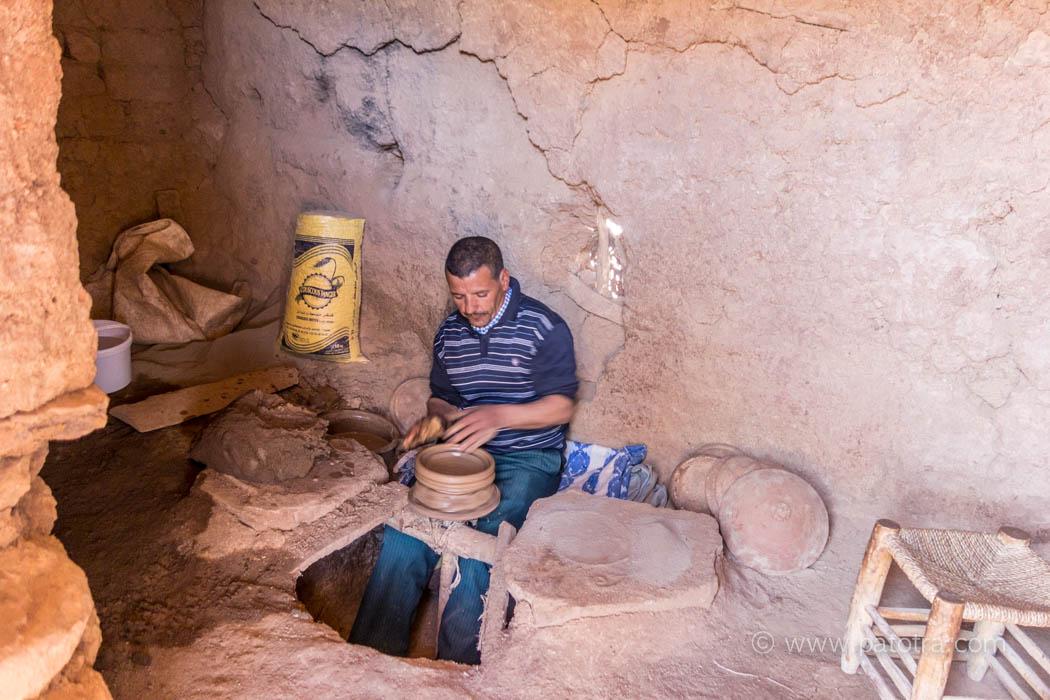 Töpferwerkstatt in Marokko