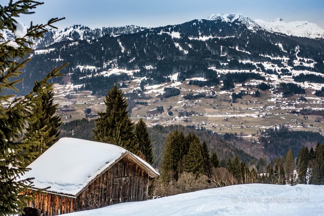 Panoramablick Montafon
