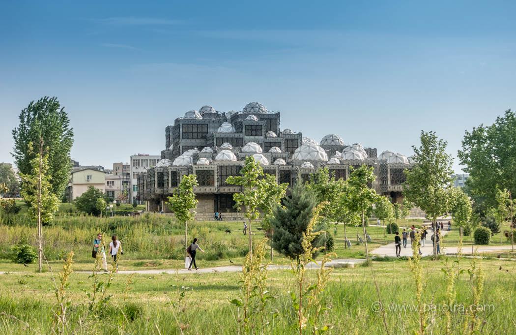 Die Nationalbibliothek von Pristina