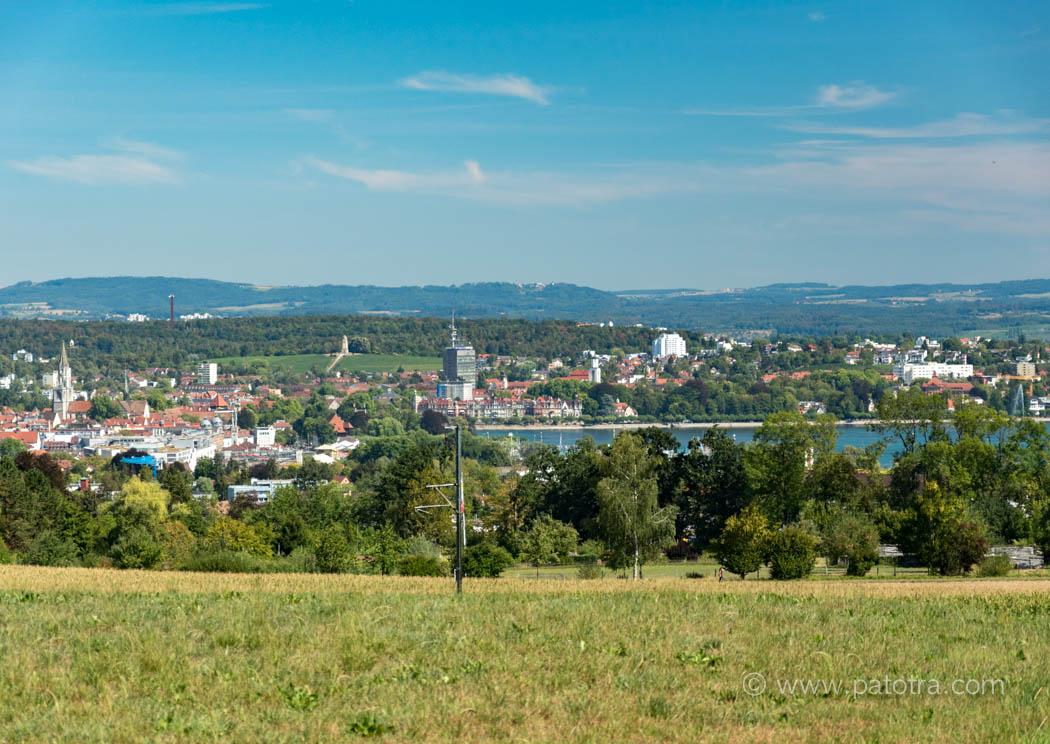 Blick auf Konstanz und kreuzlingen
