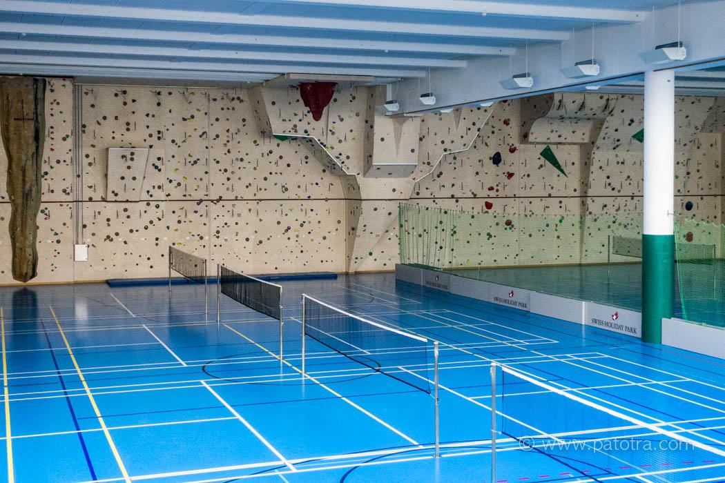 Badmintonhalle Kletterwand