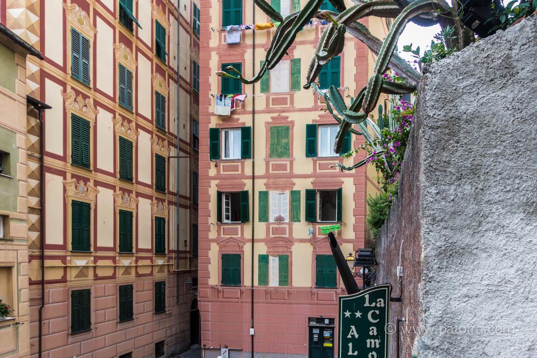 bemalte Fassaden Ligurien