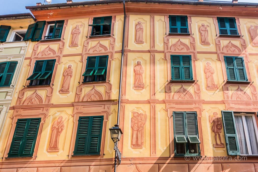 Fassadenmalerei Ligurien