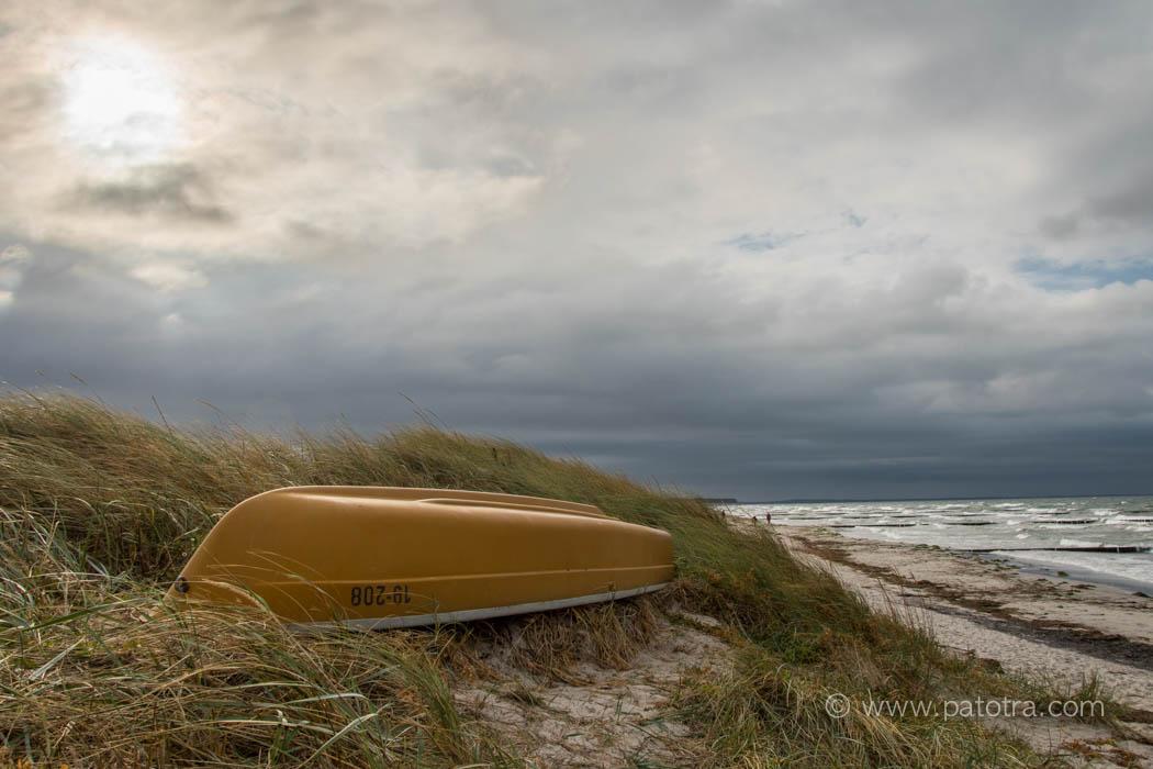 Strandidylle im Herbst Ostsee