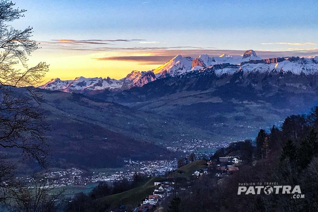 Blick schweizer Alpen