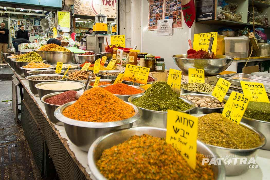Gewuerze auf dem Markt von Jerusalem