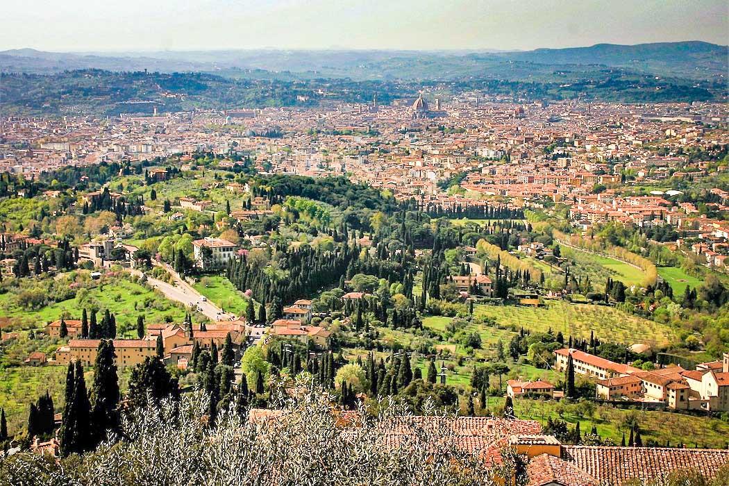 Fiesole-Blick ueber Florenz