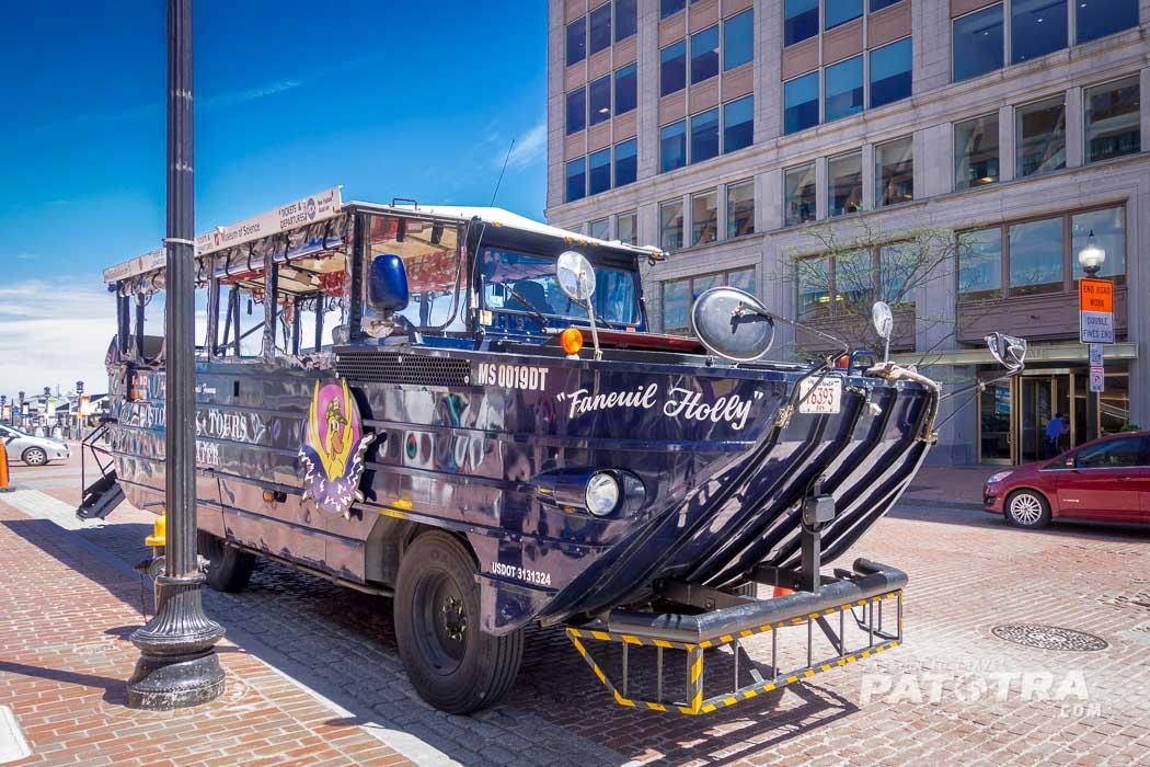 Fahrzeug der Boston Duck Tour