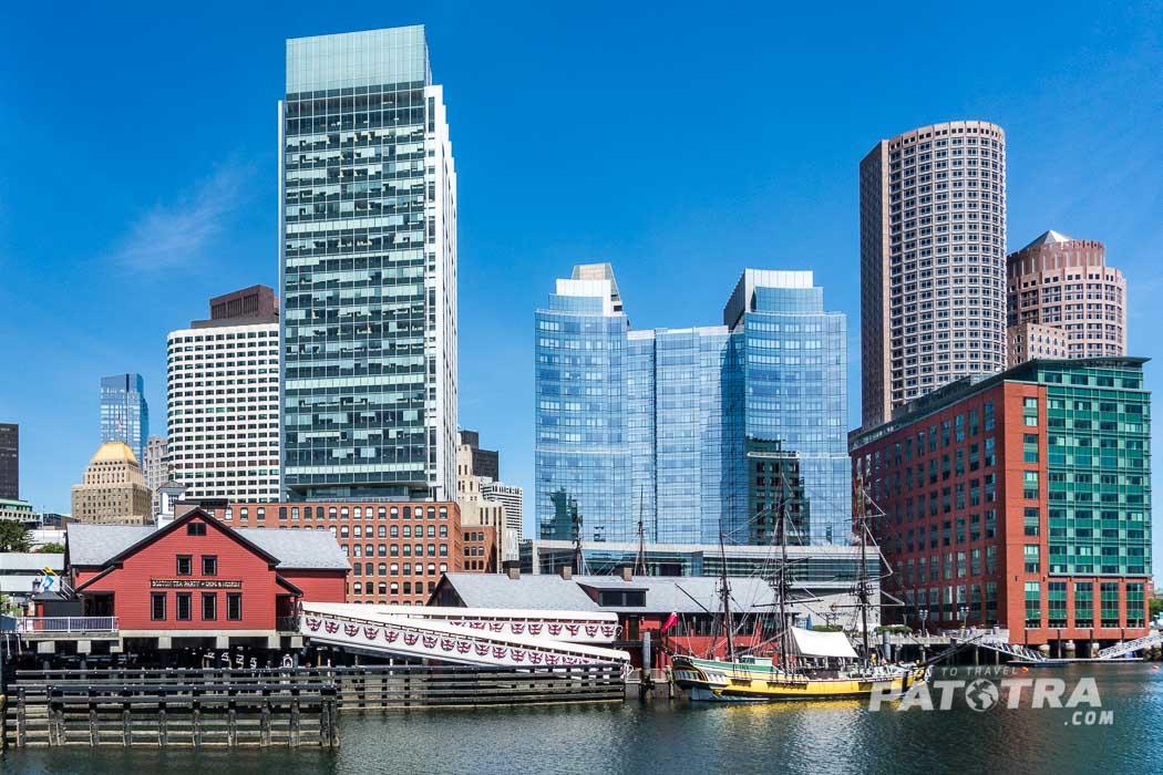 Aussenansicht des Boston Tea Party Ships and Museum