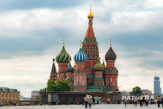 Roter Platz Moskau mit Vasilius Kathedrale